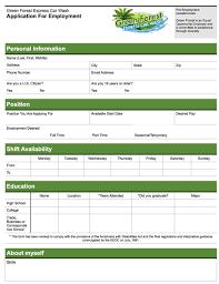 jobs green forest car wash employment application pdf