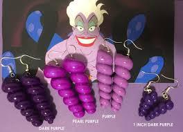Ursula <b>Earrings</b> Dark Purple Sea <b>Shell Earrings</b> inspired by   Etsy