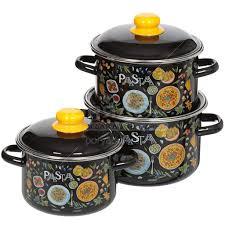 <b>Набор эмалированной посуды</b> СтальЭмаль Pasta 1KB021M ...