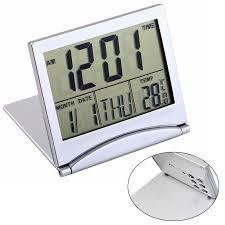 <b>Mayitr Folding</b> LCD Mini Travel Alarm Clock Weather Station Desk ...