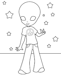 Small Picture Perfect Alien Coloring Pages 69 For Your Coloring Pages for Kids