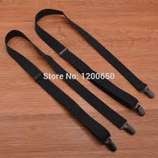 Fashion large Size black separate <b>suspender 4 Clip Men</b> Women ...