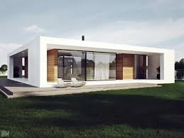 ideas about Single Storey House Plans on Pinterest   Granny    Modern Plan Of Single Storey House In Stylish Design With White Facade And Wooden Deck Decoration