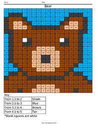 Decimal Coloring – Coloring SquaredBear Free Decimal Worksheet ...