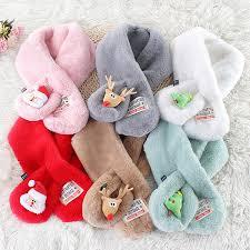 Santa Claus Children Outdoor <b>Scarf</b> ,Christmas <b>Baitie</b> Pure Colour ...