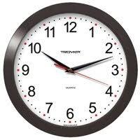 «<b>Часы настенные</b> TROYKA 11100112, круг, <b>белые</b>, черная рамка ...