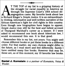 simple justice about the book in an editorial page essay titled the ten best law books appearing in the march    issue of the new york law journal attorneyliterary critic