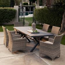 patio table and 6 chairs:  full size of  seats bella all weather wicker patio dining set wicker patio furniture set