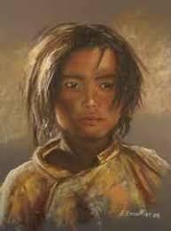 <b>Florence Excoffier</b>-Pastelliste- - enfant_tibet