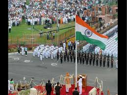 Image result for independence day flag hoisting by prime minister