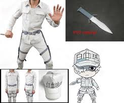 Cells At Work Cosplay Erythrocyte Uniforms <b>Hat Anime Hataraku</b> ...