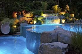 luxury swimming pool with beautiful lighting beautiful lighting pool