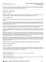 marketing essays gloria jean coffee