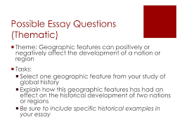 global regents thematic essay on reform homework be sure to include specific historical examples in your essay