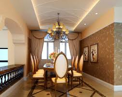 size brown dining room decor
