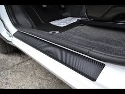 <b>Door Sill</b> Self Adhesive Scratch Protection Vinyl <b>Carbon</b> Foil ...