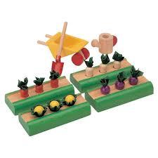 Plan Toys   Earth Friendly Wooden Toys   Oompa ToysDollhouse Vegetable Garden