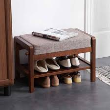 <b>Solid wood</b> simple modern door wear <b>shoes</b> bench fabric sofa stool ...