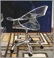 acrylic office chairs. Lumisource Modern Clear Acrylic Office Chair Chairs
