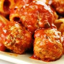 Spiced Beef Meatballs with 'Tazmikey' sauce