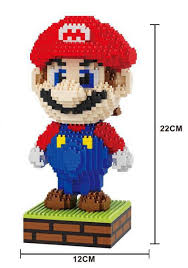 2019 HC <b>Magic Blocks Large</b> Size Mario DIY Building Toys Yoshi ...