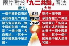 Image result for 九二共識無中華民國