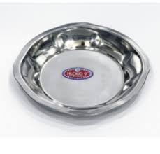Stainless Steel Dinner Plate - SS Dinner Plate Suppliers, Traders ...