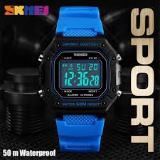 SKMEI LED Digital <b>Men Watches Multifunction</b> 5Bar Waterproof ...