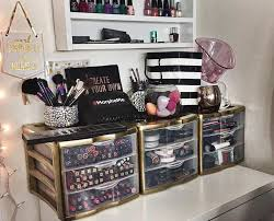 organized bedroom vanity desk  likes  comments thalia walkermakeup artist thaliaseyecandy on instagr