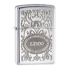 <b>Зажигалка ZIPPO American Classic</b>, латунь с покрытием High ...