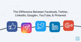 The Difference Between Facebook, Twitter, Linkedin, Google+ ...