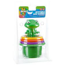 Пирамидка с лягушкой - игровой <b>набор для купания Bondibon</b> ...