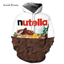 New <b>Autumn Winter Men</b>/women Hoodies With Cap Print Nutella ...