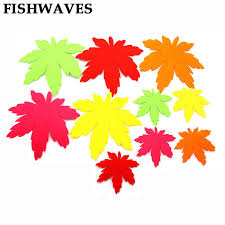 FISHWAVES <b>10pcs Hot Sell</b> Free Cutting Felting Colorful Maple ...