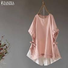 <b>2019 Plus Size ZANZEA</b> Spring Blouse Women Casual Hooded ...