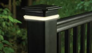 timbertech deck post cap lights view 1 blog 3 deck accent lighting