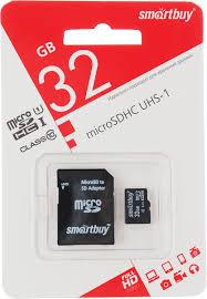SmartBuy microSDHC Сlass 10 32GB <b>карта памяти</b> (с адаптером ...