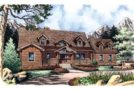 Log Home Plans at Dream Home Source   Log Home and Cabin Floor PlansLog Home Plans