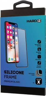 <b>Стекло защитное Hardiz</b> iPhone X Silicone Frame черная рамка ...
