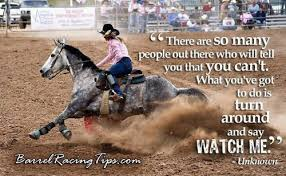 Barrel Racing Quotes. QuotesGram via Relatably.com