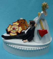 Firefighter Cupcake Decorations Fireman Cake Topper Etsy