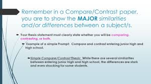 compare and contrast essay writing purpose to reveal remember in a compare contrast paper you are to show the major similarities and
