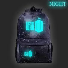 Нейлоновый <b>рюкзак Doctor Who</b>, <b>школьная</b> сумка, светящиеся ...