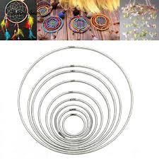 35mm-160mm <b>Strong</b> Metal Hoop <b>Dreamcatcher</b> Ring Macrame ...
