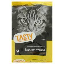 Сухой корм <b>Tasty для взрослых кошек</b>, курица, 350 г (3822106 ...