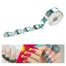 <b>500Pcs</b>/<b>roll Nail</b> Art Tips Extension Green Fish <b>Shape Nail Form</b> ...
