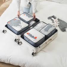 6 Pcs/set Travel Bags Sets Waterproof Pack Underwear Shoes ...