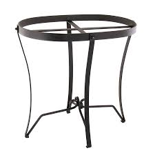 achla designs 18 in black indooroutdoor oval wrought iron plant stand achla designs wrought iron