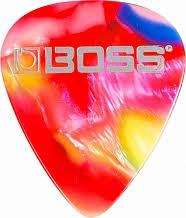 <b>BOSS BPK</b>-<b>12</b>-MM - <b>медиатор</b>, с мозаичной расцветкой, средний ...