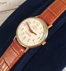 CYMA Swiss <b>watch Gold</b> plated <b>watch</b> 70's - Montre suisses - leather ...